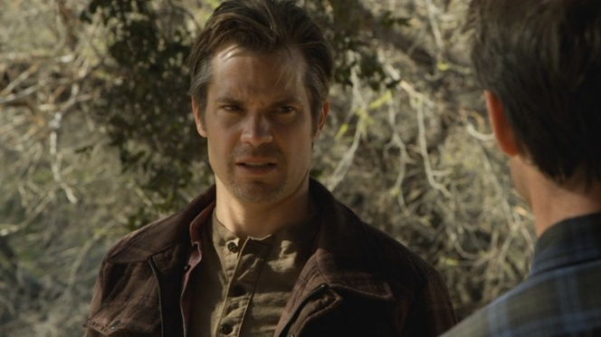"Raylan wears a decidedly different - but similarly-colored - henley by the time ""Bloody Harlan"" (Episode 2.13) rolls around."