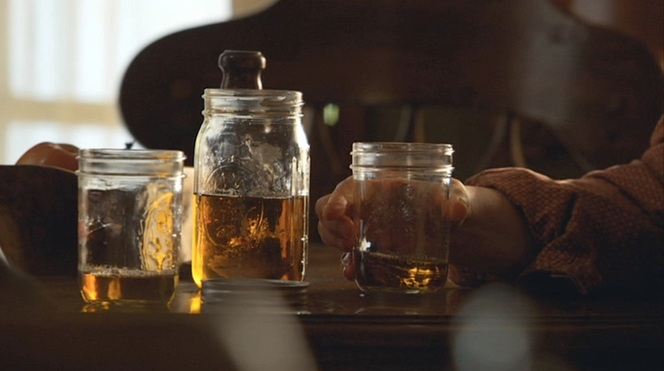 "I'm sure there's a ""you might be a redneck if..."" joke somewhere about having ""good"" mason jars to offer guests."