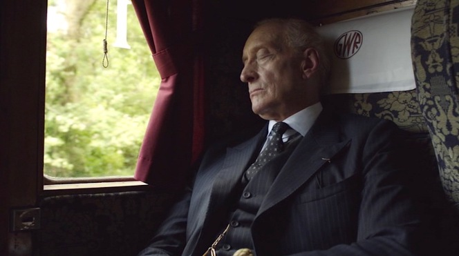 Wargrave dozes off for his introduction to the audience in the first episode.