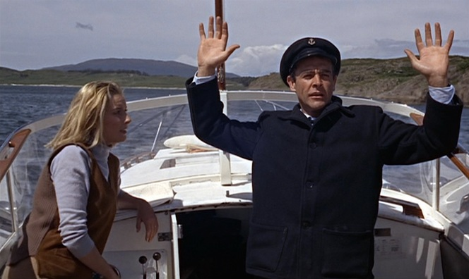 007 isn't above playing dress up when he takes to the high seas.