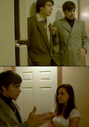 "Screenshots from Red Light District (2005), my 10th grade exploration of the sex-and-drugs culture that permeated the '70s. I'm the one in the gray striped double-breasted suit with the distinctive ""split lapel""."
