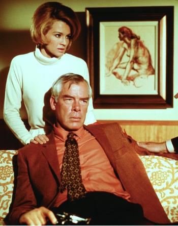 Angie Dickinson and Lee Marvin in Point Blank (1967).