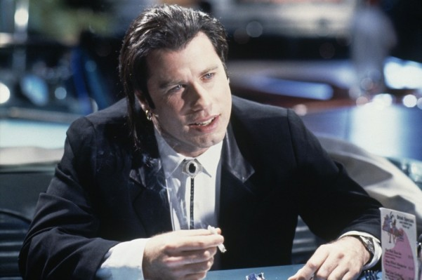 A production photo of John Travolta as Vincent Vega.