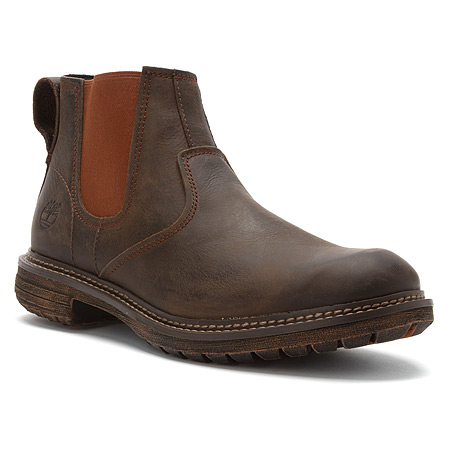 The Timberland Earthkeepers Tremont Chelsea boot in dark brown oiled leather.
