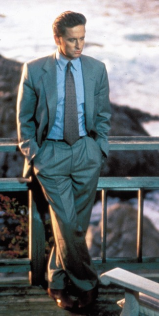 Michael Douglas as Nick Curran in Basic Instinct (1992).