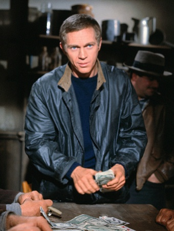"Steve McQueen as Eric ""The Kid"" Stoner in The Cincinnati Kid (1965)."