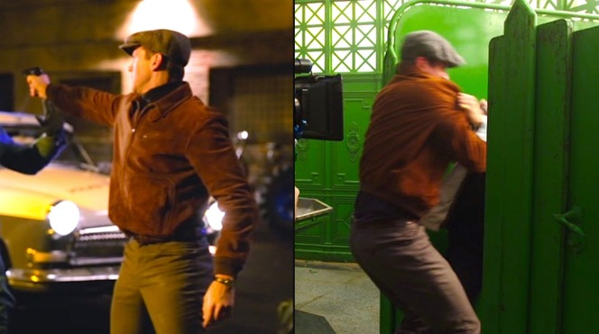 Behind-the-scenes shots of Armie Hammer provide even more insight into his character's costuming.