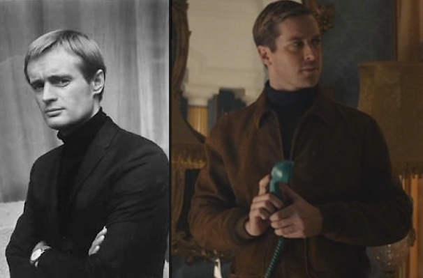 David McCallum as Illya Kuryakin vs. Armie Hammer in the same role, 50 years later.