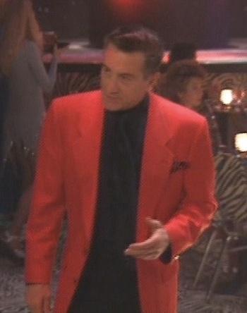 A behind-the-scenes shot of Robert De Niro in the Jubilation nightclub set of Casino (1995).