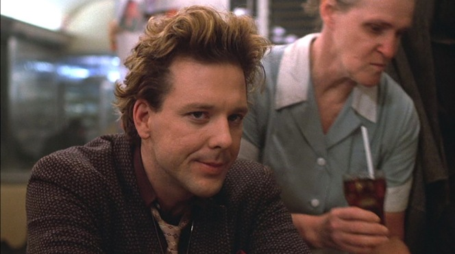 Yes, Mickey Rourke once looked like this. It was a long time ago.