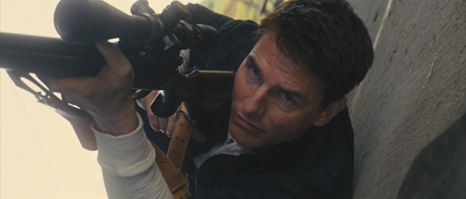Reacher rolls with Cash's rifle.
