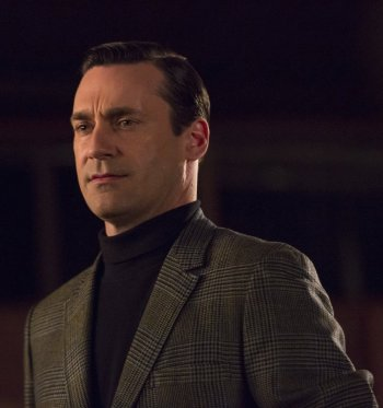 "Jon Hamm as Don Draper on Mad Men. (Episode 6.12: ""The Quality of Mercy"")"