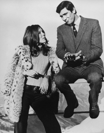 Despite their many publicity photos together, Lazenby never actually wore this outfit while sharing screen time with Diana Rigg.
