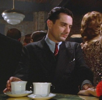 "Robert De Niro as ""Noodles"" Aaronson in Once Upon a Time in America (1984)."