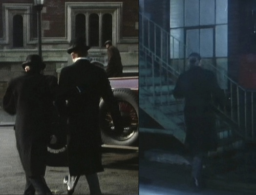 "In both ""After Moscow"" and ""The Trust"", Reilly's preferred and correct footwear appears to be well-polished black lace-ups."