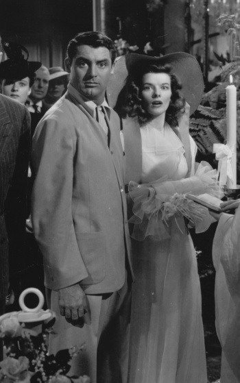 Cary Grant and Katharine Hepburn as C.K. Dexter Haven and Tracy Samantha Lord, respectively, in The Philadelphia Story (1940)