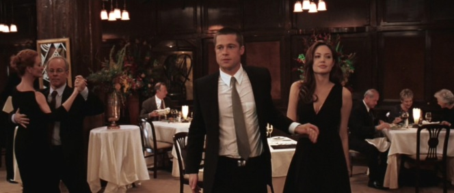 Mr. and Mrs. Smith head for the dance floor.