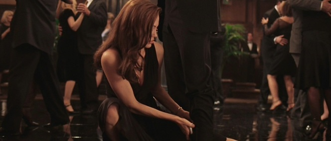 In a way, Jane's doing him a favor as having more than a pound of steel strapped to your ankle has to get in the way while dancing.