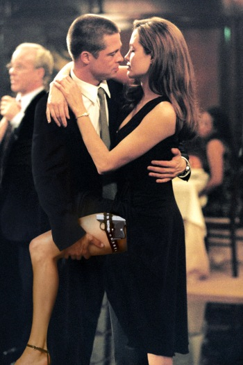 Brad Pitt and Angelina Jolie as Mr. * Mrs. Smith (2005)