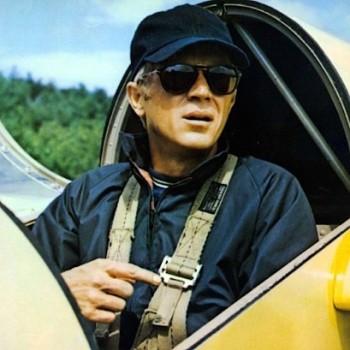 McQueen in the cockpit.