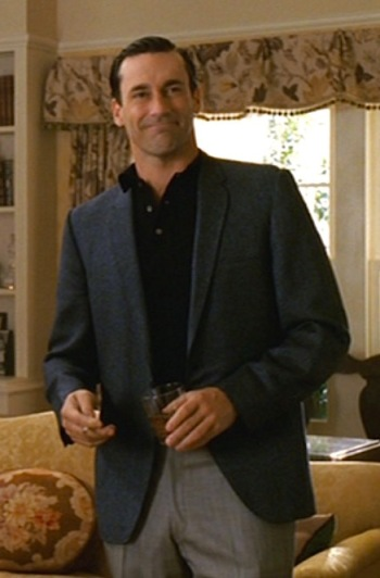 "Jon Hamm as Don Draper in ""Marriage of Figaro"", Episode 1.03 of Mad Men."