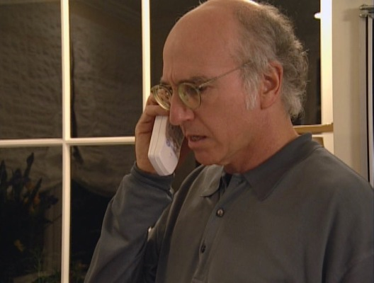 Although to suggest that Larry David is ever comfortable shows a fundamental lack of knowledge about his character.