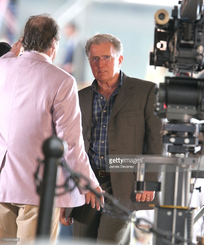 Jack Nicholson and Martin Sheen filming The Departed in Boston's Long Wharf, photographed June 28, 2005 by James Devaney for Getty Images.