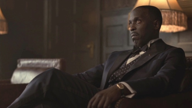 "Genevieve Valentine of The A.V. Club summed it up perfectly in her review of ""Resignation"" (Episode 4.02): ""No one on this show, and honestly no one on many other shows, can deliver a death stare like Michael Kenneth Williams."""