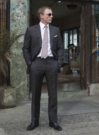 8eb168d3fea James Bond revives a bold vintage fad with his mohair tonic suit in muted  brown