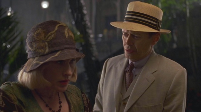Sally and Nucky have tough talks over after-dinner drinks.