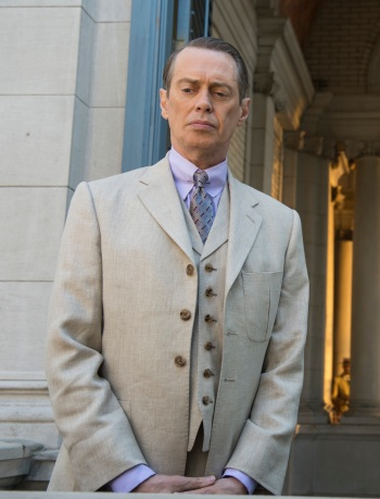 "Steve Buscemi as Enoch ""Nucky"" Thompson in ""Golden Days for Boys and Girls"", Episode 5.01 of Boardwalk Empire."