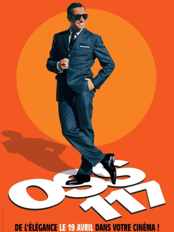 French promotional art for OSS 117: Cairo, Nest of Spies that features Hubert's blue suit.