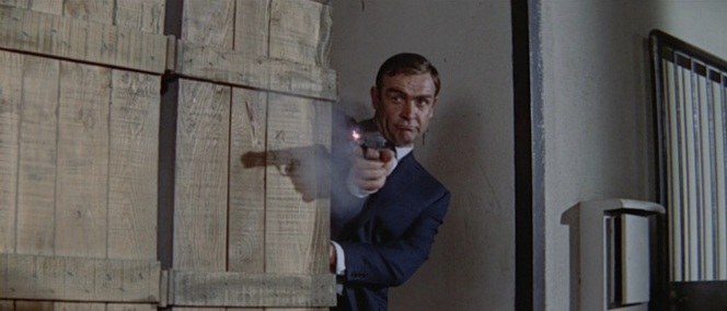 PPK or not, Bond's pistol serves him well when he gets into a sticky situation.