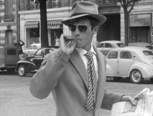 Belmondo oozes French nonchalance on the streets of Paris.