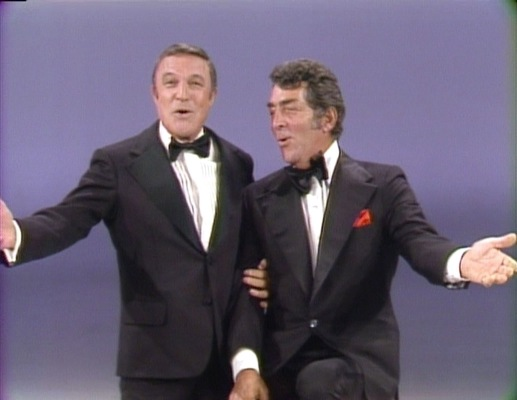 Gene Kelly performs with Dean Martin, circa 1973. (Link)