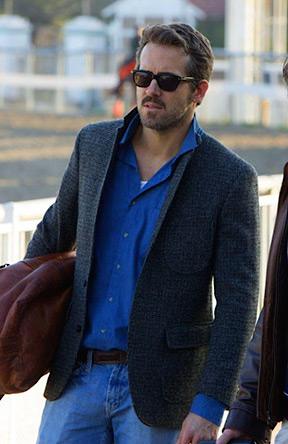 Ryan Reynolds' Tweed Jacket in Mississippi Grind | BAMF Style
