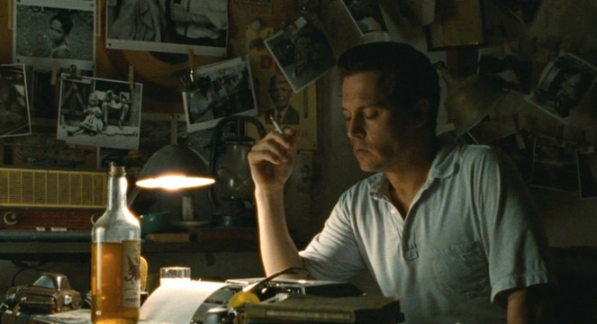 Cigarettes, rum, and a typewriter... removing any doubts that Paul Kemp is the story's Hunter S. Thompson surrogate.