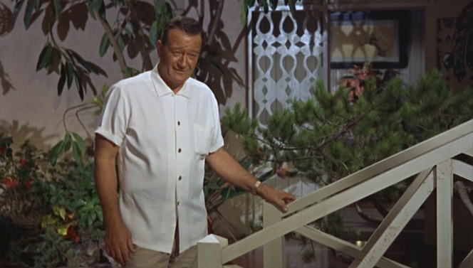John Wayne reminds me a lot of my grandfather in this screenshot, from the facial expression to the stance and even the way he is wearing his shirt.