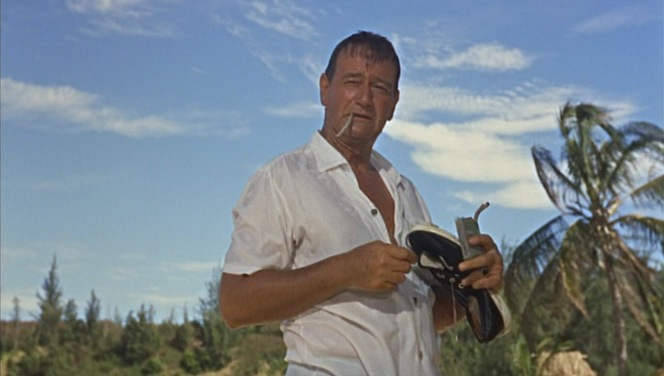 As John Wayne was a six-pack-a-day smoker who was diagnosed with lung cancer the year after Donovan's Reef was released, perhaps his cigarettes getting soaked wasn't the worst thing to happen in the long run...