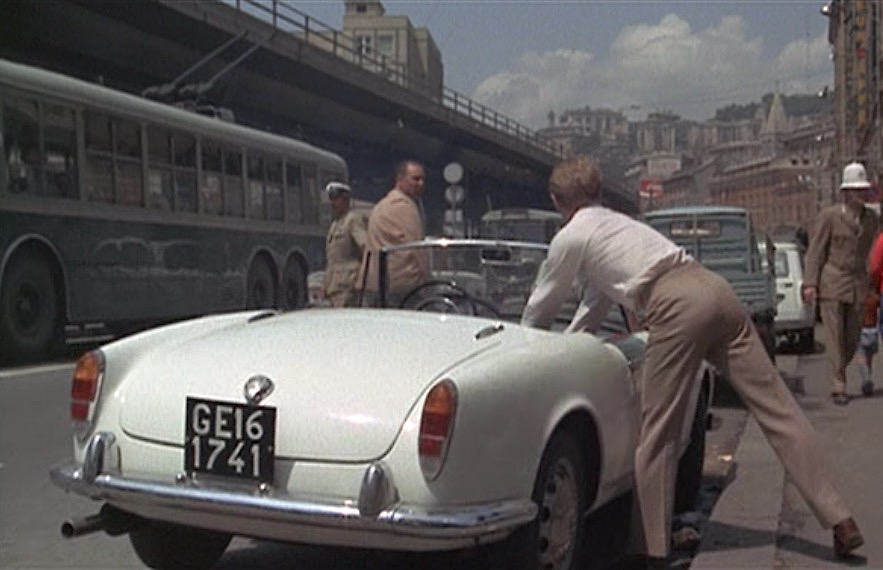 the day of the jackal: a day cravat and an alfa romeo   bamf style