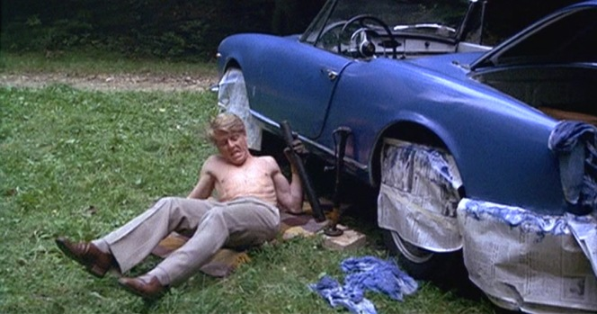 A white car is easy to disguise when needed just by painting it a different color... in this case, blue. The Jackal approaches his wardrobe with the same sensibilities; it's hard to tone down loud clothing if needed, but it's certainly easy to disguise blander clothing by adding new elements.