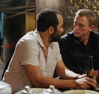 Felix confers with James Bond (Daniel Craig) and a much-needed beer in Quantum of Solace (2008)