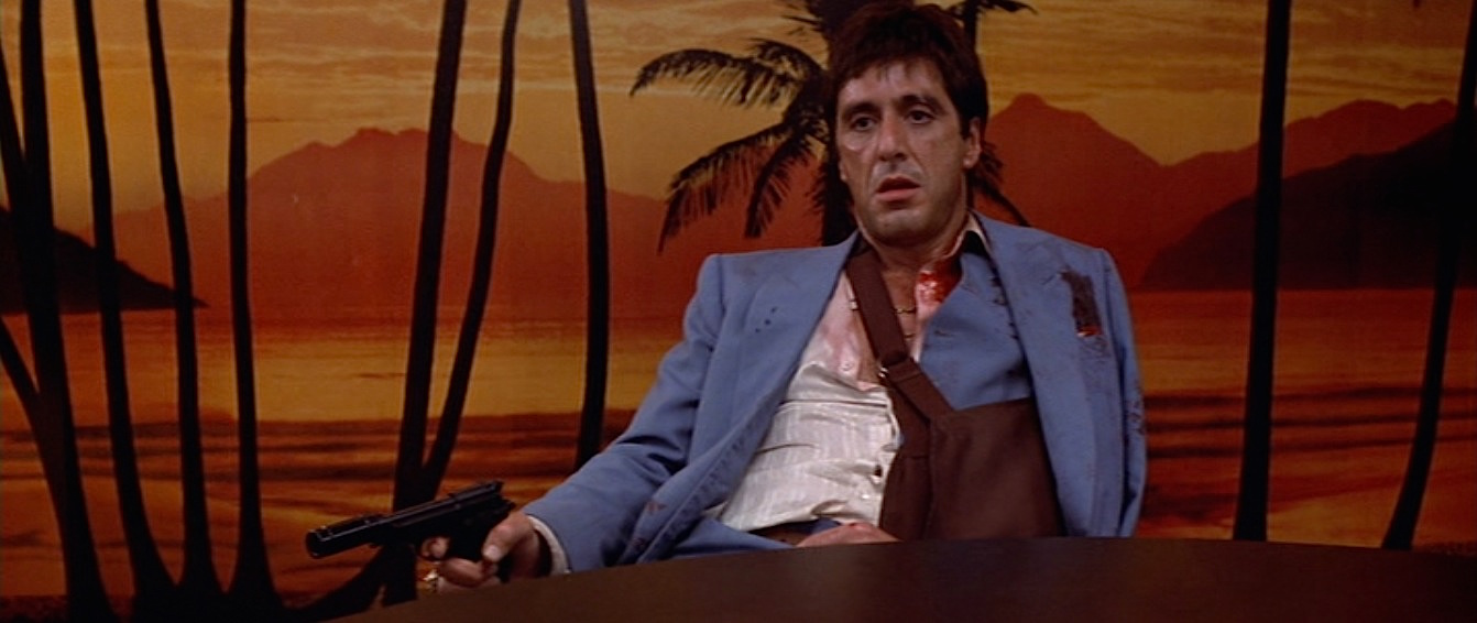 tony montana s sky blue suit in scarface bamf style. Black Bedroom Furniture Sets. Home Design Ideas