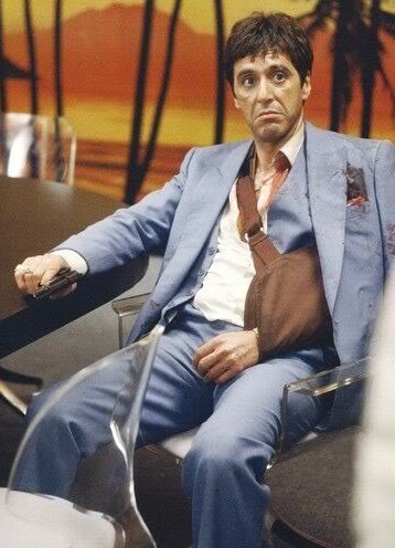 Tony Montana S Sky Blue Suit In Scarface Bamf Style