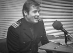 Roger Moore interviewed while in costume by John Snagge of BBC Radio, 1976.