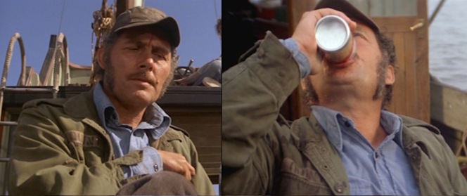 Quint's field jacket has doubtless seen plenty of adventure... and plenty of beer.