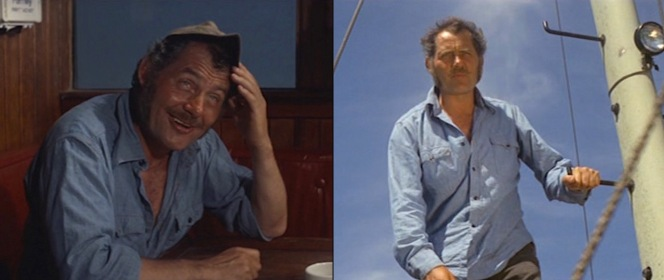 Quint at play and at work in his trusty blue chambray shirt.