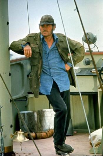Robert Shaw as Quint in Jaws (1975)