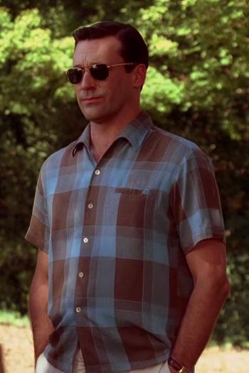 "Jon Hamm as Don Draper in ""Seven Twenty Three"", Episode 3.07 of Mad Men."