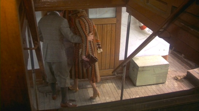 "Dismissing Poirot as ""obviously a frog"" (but he's Belgian!), Colonel Arbuthnot escorts Mary inside."